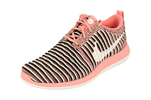 Nike Womens Roshe Two Flyknit Running Trainers 844929 Sneakers Shoes (UK 5 US 7.5 EU 38.5, Bright Melon White Black 801)