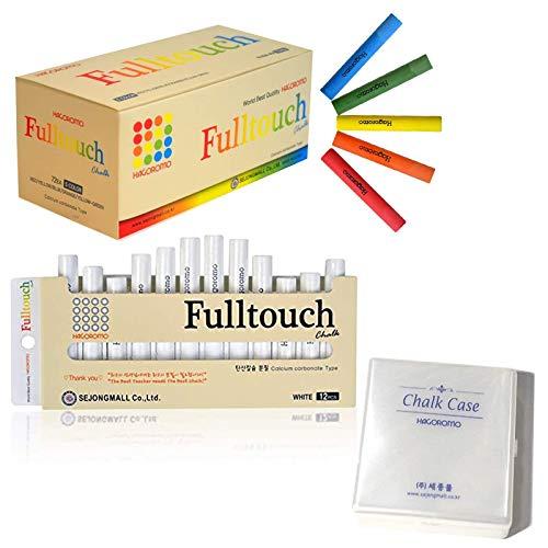 Hagoromo Fulltouch 5-Color Mix Chalk 72pcs + Hagoromo Fulltouch White Chalk 12pcs + Chalk Case
