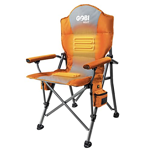 Terrain Heated Camping Chair - 9 hrs of Heat   with Battery & Charger   3 Heat Settings