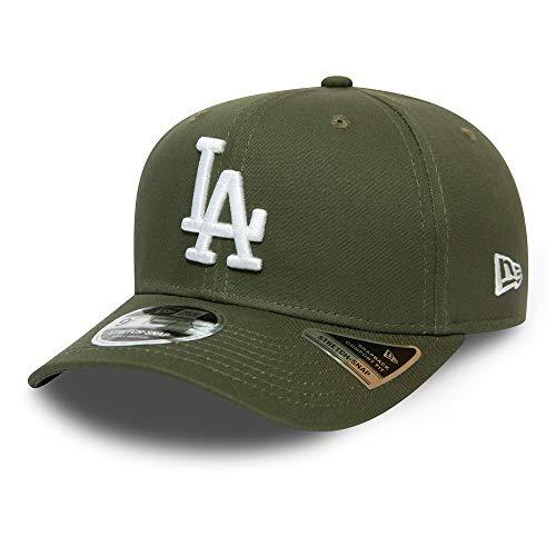 New Era Los Angeles Dodgers Cap MLB Baseball Stretch Kappe Basebacap Oliv - M - L
