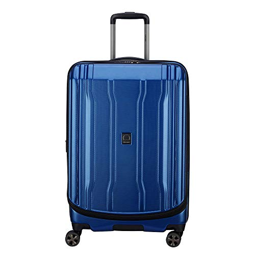 DELSEY Paris 40207982002 Cruise Lite Hardside 2.0 Expandable Luggage, Spinner Wheels, Blue, Checked-Medium 25 Inch