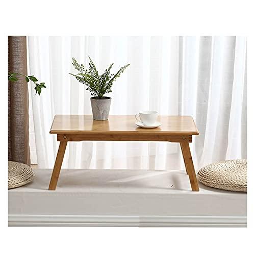 GHHZZQ Escritorio de Computadora Portátil Plegable, Mesa de Escritorio para Portátil por Cama Sofá, Estante de Almacenamiento Bambú Mesa de Picnic/Estudio (Color : B, Size : 60x40x25cm)