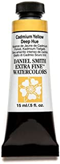 DANIEL SMITH Extra Fine Watercolor 15ml Paint Tube, Cadmium Yellow Deep Hue