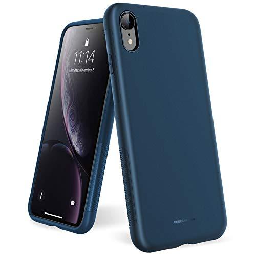 UNBREAKcable Kompatibel mit iPhone XR Hülle - [Fallschutz, rutschfest] Weiche, mattierte TPU Ultra-dünne Stylische Handyhülle Hülle, Cover für 6,1 Zoll iPhone XR - Matt Blau