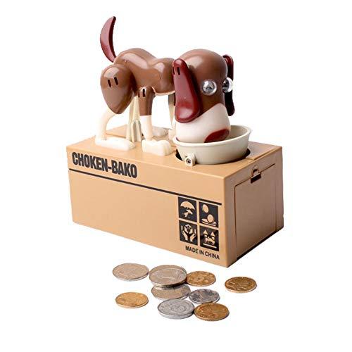Trintion Sparschwein Hund Spardose Hungry Dog Piggy Bank Sparbüchse Große Kapazität Spardose Piggy Bank Kinder Sparschwein Zähler Geld Sparen Box für Kinder Erwachsene