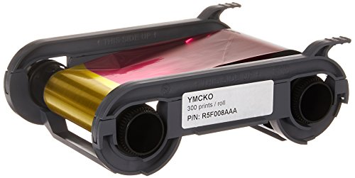 Evolis Verbrauchsmaterialien, YMCKO Farbband, Primacy kompatibel, 300 Drucke, 1 Rolle R5F008AAA