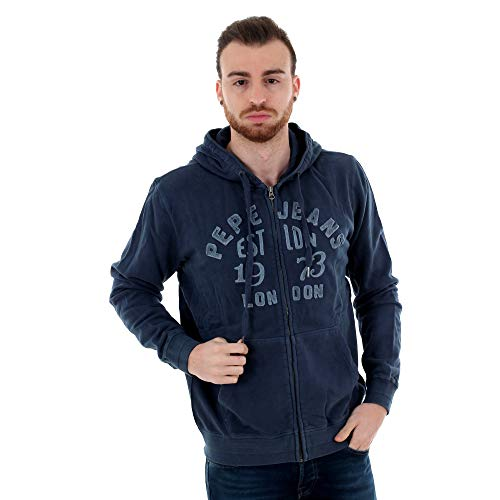 Pepe Jeans Sweat-Shirt Homme XS Manches Longues Bleu Marine PM581660 Lope - 584 Old Navy