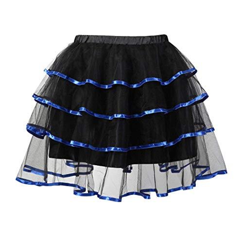 Vrouwen tule rok multilayer Organza Mini Tutu Vintage mode Steampunk Gothic Fashion Party Princessin Ballerina Fluffy Petticoat Rok