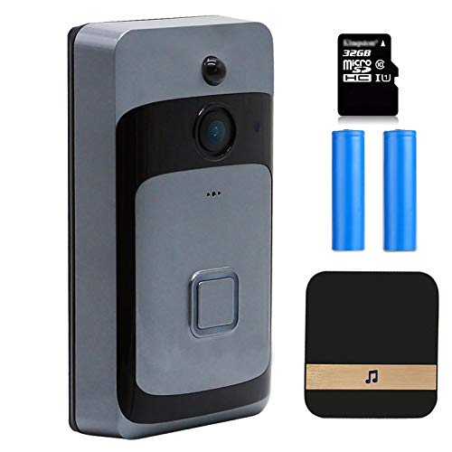 HSTD Wi-Fi Video Doorbell, Ring Video Doorbell, Motion Detection and...