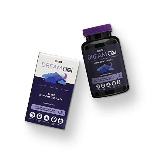 ONNOR Dream ONN Natural Sleep Aid Support Capsules Vegan 200mg 5-HTP, GABA,...