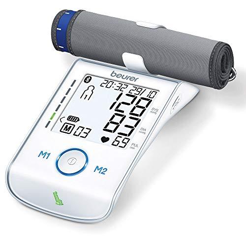 Beurer BM 85 Oberarm-Blutdruckmessgerät, mit patentiertem Ruheindikator, praktischer Li-Ion-Akku, App-Anbindung mit zertifiziertem Datenschutz