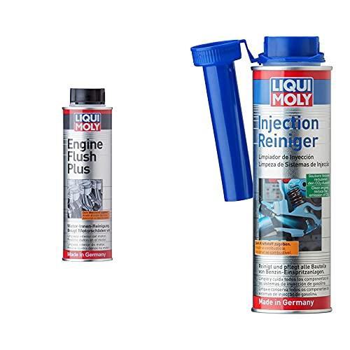 Liqui Moly 2657 Motor Limpieza, Engine Flush Plus, 300 Ml + 2522 Limpiador De Inyección, 300 Ml