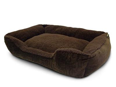 AKC Embossed Solid Pet Cuddler Bed