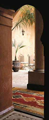 Plage 141042 Adesivi murali e Porte, Formato Grande - Trompe L'Oeil Porta, Marrackech, 204 x 83 cm
