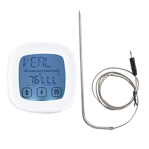 IGKE Touch‑Screen Thermometer, Instant Read ‑20℃‑300℃ Digital Cooking Thermometer, Remote Monitoring Turkey for Beef Fish Chicken