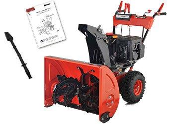 Benzin Schneefräse 13 PS Elektrostarter Schneeschieber Motorbesen Schneepflug