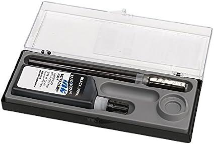 Bottle of Ultradraw Black Ink Koh-I-Noor RapidoSketch Pen and Ink Set.50mm Pen Point and .75 oz 3265BX.01N 1 Set
