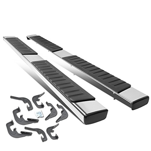 "DNA MOTORING Chrome STEPB-ZTL-8017 6"" Pair of OE Style Stainless Steel Side Step Nerf Bar Running Board"
