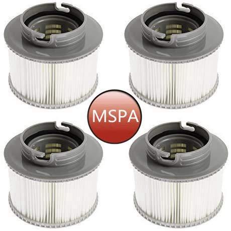 Ersatz-Filterkartuschen für MSpa Bubble Spa Whirlpools (verbesserte 2020 Version für alle MSpa Modelle) (4 Stück)