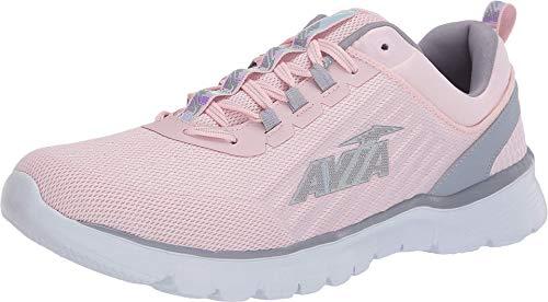Avia Women's Avi-Factor Running Shoe, Pale Lilac/Lilac Grey/Iridescent, 10 Medium US