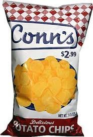 Conn's Delicious Potato Chips Plain 10 ounce Bags (Pack of 3)