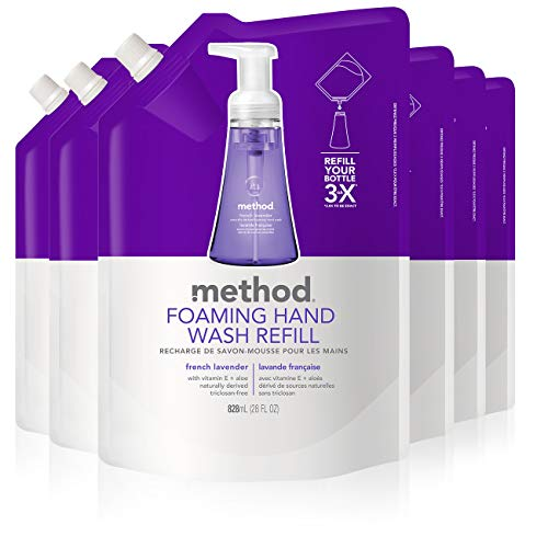 Method Foaming Hand Wash Refill, French Lavender, 28 Fl Oz (Pack of 6)