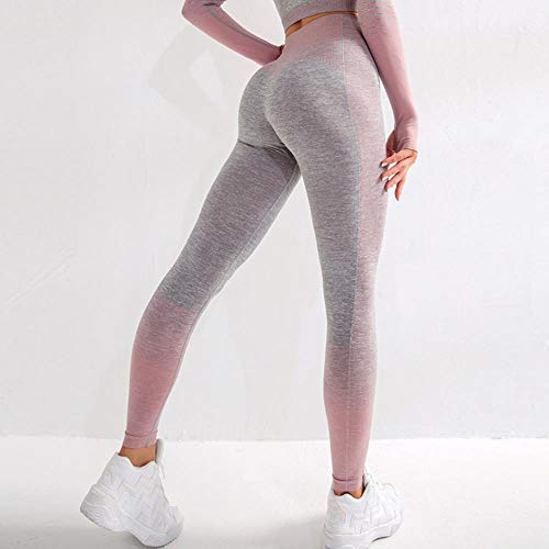 LLD Skinny Women's Yoga Pants Energy Seamless Leggings High Waisted Women Exercise Yoga Pants Gym Fitness Sport Tights Woman Workout Jogging Compression Pants,Pink,S