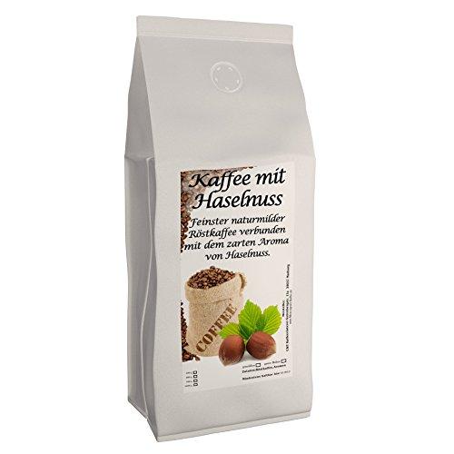 Aromakaffee - aromatisierter Kaffee Haselnuss 1000 g ganze Bohnen - Spitzenkaffee - Schonend Und Frisch In Eigener Rösterei Geröstet