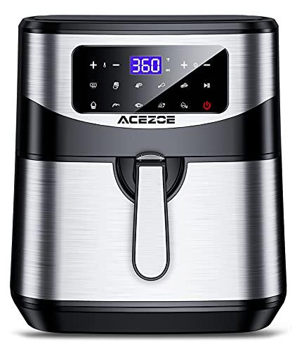 Freidora sin Aceite 7L, Acezoe 1700W Freidoras de aire caliente Horno de sin aceite con...