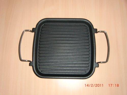 Kitchen aid Grillpfanne aus Gusseisen, quadratisch, 25 x 25 cm