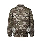 HomeYoo Cooling Jacket Fan,Air Conditioned Clothes for High Temp Worker Unisex Camouflage