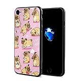 スマホケース パグ子犬 スマホカバー Iphone7 Iphone8 対応 すり傷防止 耐衝撃性
