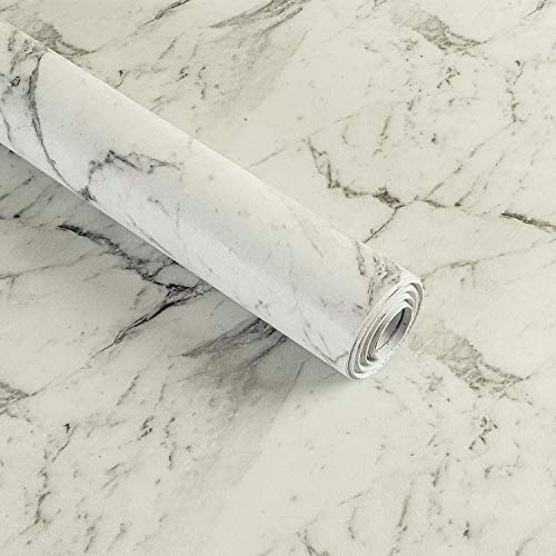 Marmor kontaktpapper glans tapet gör-det-själv vattentäta klistermärken lätt att rengöra för väggmöbler kök bänkskåp 45 x 1000 cm (M4007)