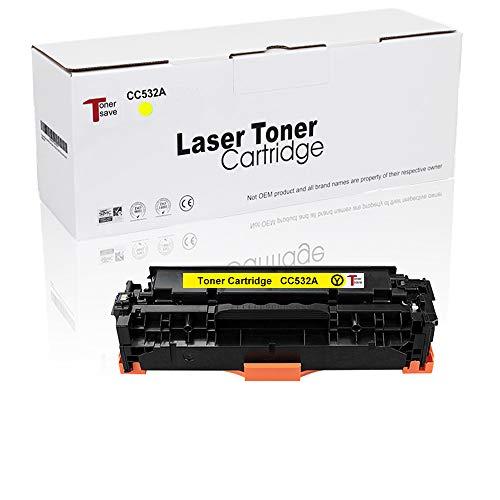 Tonersave kompatible zu HP 304A CC530A für HP Color Laserjet CP2025 CP2025N CP2025DN CM2320 CM2320N MFP CM2320NF MFP CM2320FXI MFP Drucker 1er-Pack Gelb