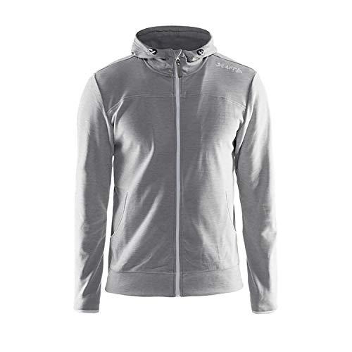 Craft Veste de vêtements de Sport Leisure Fermeture Éclair complète Capuche Ct040/1901692 Rouge Large Moyen Gris