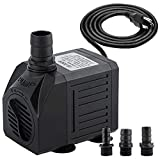 Yochaqute Aquarium Submersible Water Pump: 550GPH 30W Quiet Mini Adjustable with 6ft Power Cord for Hydroponics   Garden Waterfall   Pond   Fish Tank   Fountain
