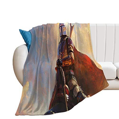 All Seasons Manta cálida para la siesta de Star Wars The Mandalorian Season 2 a caballo, decoración de vacaciones, 80 x 100 cm