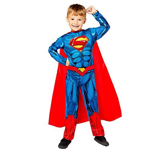 Amscan 9910133 Superman Disfraz de Halloween de 10 a 12 aos, azul, aos