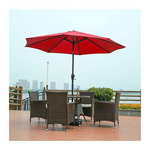 Sombrilla Parasol Jardin Jardín Paraguas Parasol, 2,1 m de inclinación Sombrillas, con manivela y el mecanismo de inclinación ajustable for el balcón Piscina de protección solar, la base no está inclu