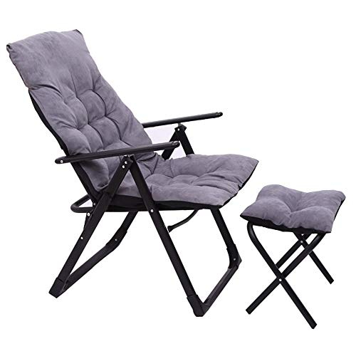 Folding chair Silla Plegable reclinable Silla de Ordenador de Oficina Respaldo Perezoso Almuerzo Descanso Respaldo Silla Cama Doble Uso portátil