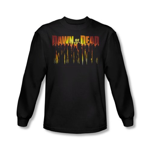 Dawn Of The Dead - Hommes Marche complètement shirt manches longues In Black, XX-Large, Black
