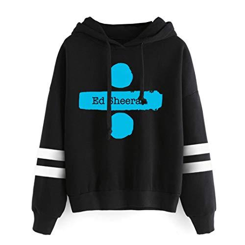 OENKIKIN Ed Sheeran Pullover Lässiger und bequemer Trend Klassischer Stil Pullover Bevorzugter Pullover (Color : Black01, Size : S)