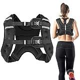 Vailge Chaleco lastrado, 2 kg/5 kg/10 kg, entrenamiento con pesas, chaleco de entrenamiento para fitness, entrenamiento de fuerza, correr, entrenamiento cruzado, desarrollo muscular (negro, 10 kg)