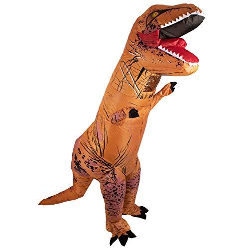 Lumunu Deluxe aufblasbares T-Rex Kostüm Herbert, Party Ganzkörperkostüm für Erwachsene, One Size, von Venize
