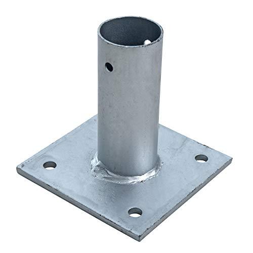 ESTEXO Aufschraubhülse Pfostenhülse Pfostenträger Bodenhülse rund für 34 mm Pfosten Aufschraubbodenhülse Hülse Pfostenschuh