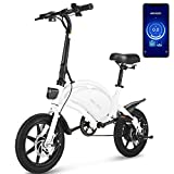 ANCHEER Electric Bike Electric Commuter Bike 500W Ebike 14'' Electric Bicycle, 20MPH Adults Ebike and 48V 7.5Ah Battery Scooter