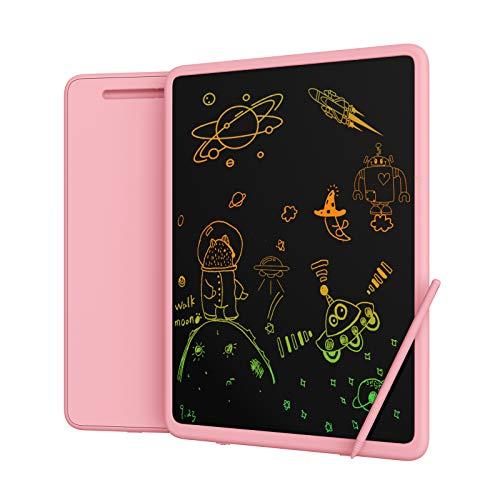 Upgrow Tableta de escritura LCD de 11 pulgadas con letras coloridas, tabletas gráficas digitales, sin papel, pizarra de dibujo para niños, escuela, graffitic, notas