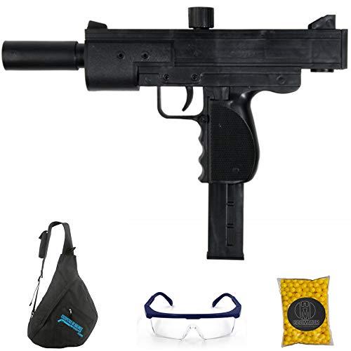 Subfusil M136 Uzi (6mm) | Pistola de Airsoft (Bolas de PVC) de Muelle + Mochila + Gafas + Bolas