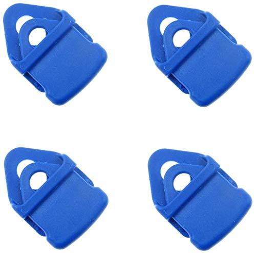 SPFIX BO-Camp Set 4 Clips Mini Blau für Fußmatten Vorzeltteppiche Campingteppich Zeltboden Zeltplane Spanner (4X Mini Blau)