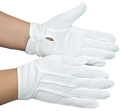 東レ社製 ナイロン生地 使用 礼装用 フォーマル 紳士 白 手袋 (S ~ 3L) ナイロン 100% 1双 または 3双セット から 選択可 (ホワイト, S寸(3双))
